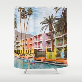 Palm Springs Pool Day VII Shower Curtain