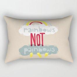 RAINBOWS NOT PAINBOWS Rectangular Pillow
