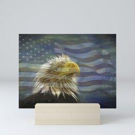 Patriotic Eagle Mini Art Print