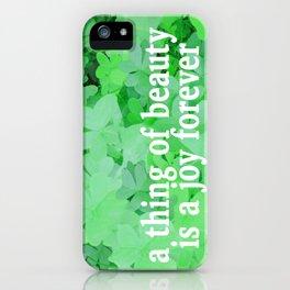 GREEN & LUCKY iPhone Case