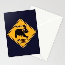 Warning! Insanely Cute - Funny Koala Bear Road Sign Stationery Cards