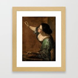 Artemisia Gentileschi, Self-portrait as the Allegory of Painting Framed Art Print