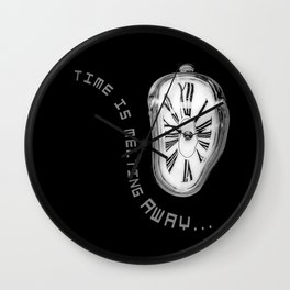 Salvador Dali Inspired Melting Clock. Time is melting away. Wall Clock