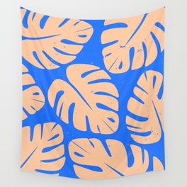 Monstera Leaf Print 5 Wall Tapestry
