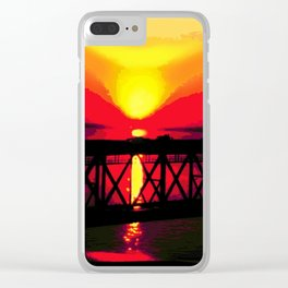 Sunset On The Bay Bridge Clear iPhone Case