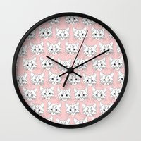 a lot of cats Wall Clocks featuring a lot of cats by galactikat