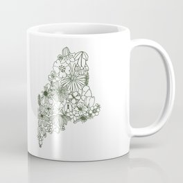 Maine State Floral Coffee Mug