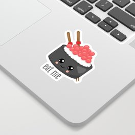 Eat Me in black Sticker