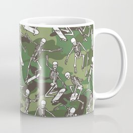 Grim Ripper Skater Camo WOODLAND GREEN Coffee Mug