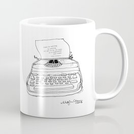 Earnest Hemingway Writing on Typewriter Coffee Mug