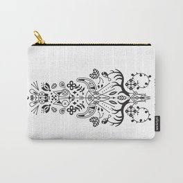 La Vie + La Mort: Black Ink Carry-All Pouch
