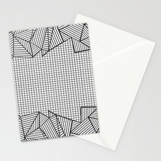 Grids and Stripes Stationery Cards