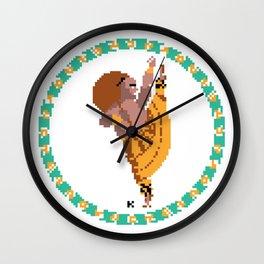 Vamana the dwarf, pixel art Wall Clock