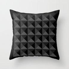 Black Bits Throw Pillow