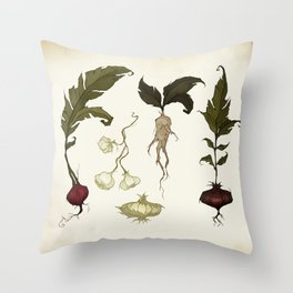 Root Vegetables Throw Pillow