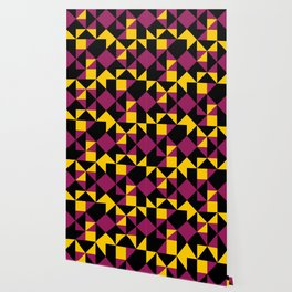 Squares, triangles and other polygons in confusion. Wallpaper