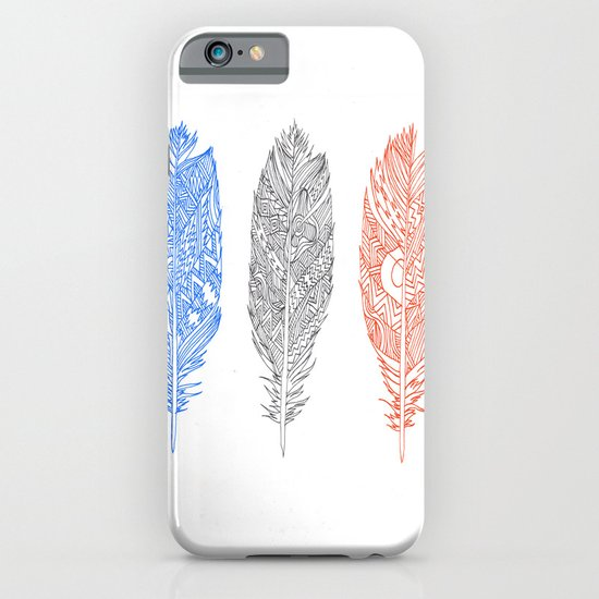 Patterned Plumes iPhone & iPod Case