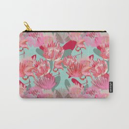 Flamingos and Proteas Carry-All Pouch