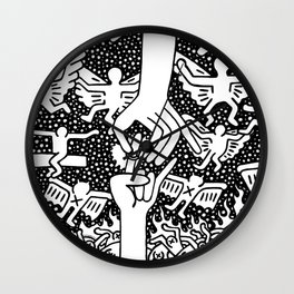 Keith Haring - The marriage of heaven and hell Wall Clock