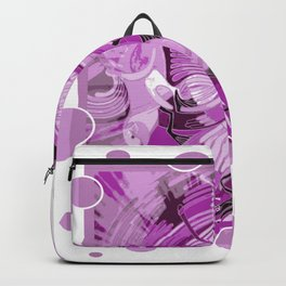 Dove With Celtic Peace Text In Pink Purple Tones Backpack