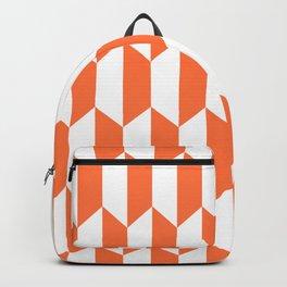 Classic Trapezoid Pattern 224 Orange Backpack