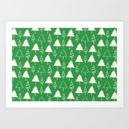 Christmas Tree Green Art Print