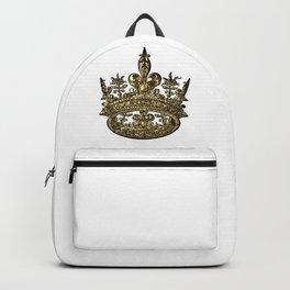 Golden Crown of Royalty Backpack