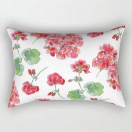 Red malvon pattern Rectangular Pillow