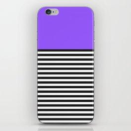 STRIPE COLORBLOCK {PURPLE} iPhone Skin