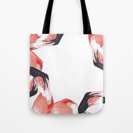 Red Flamingos Tote Bag