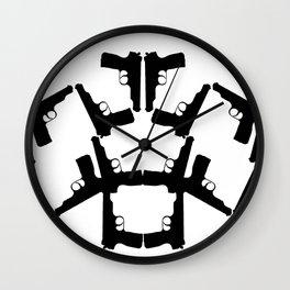 Pistol Robots Wall Clock