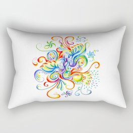 Abstract Coloured Pencil Art Rectangular Pillow