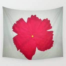 Red Flower Wall Tapestry