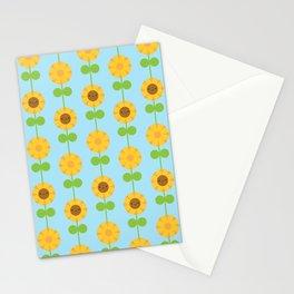Kawaii Sunflowers Stationery Cards