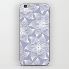 Pale flower pattern iPhone & iPod Skin