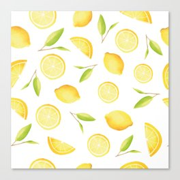 Happy Lemons Canvas Print