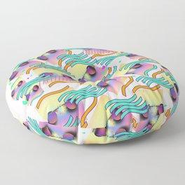 STAR Bridge Glasses With Waves DESIGN PATTERN Floor Pillow