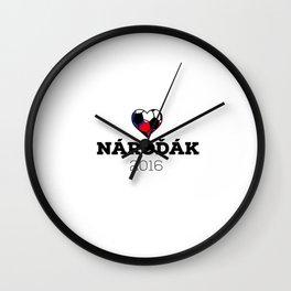 EM 2016 Nároďák Czech Wall Clock