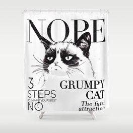 Grumpy the cat Shower Curtain