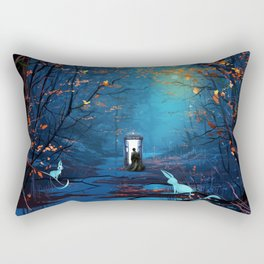 Tardis And The Doctor Lost In The Forest Rectangular Pillow