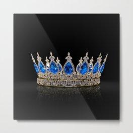 Sapphire Jewel Crown Metal Print