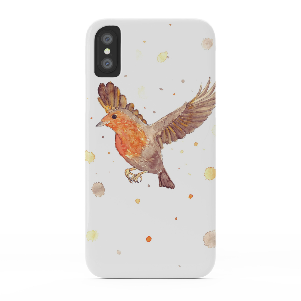 Red Breasted Robin Phone Case by artbyfrydendal (PCS3032364) photo