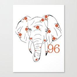 96 Elephants Canvas Print