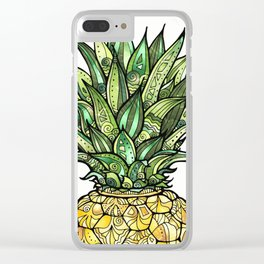 Pineapple for Tiffany Clear iPhone Case