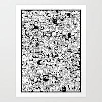 Crowded Faces II Art Print