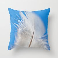 forrest Throw Pillows featuring Forrest by LSxART