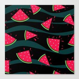 Watermelon slice . Canvas Print