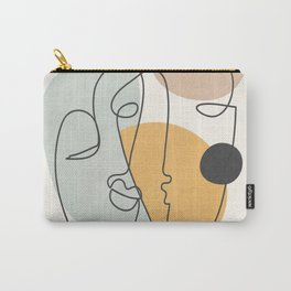 Abstract Faces 30 Carry-All Pouch