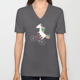bike unicorn  Unisex V-Neck