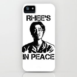 Glenn Rhee: Rhee's In Peace iPhone Case